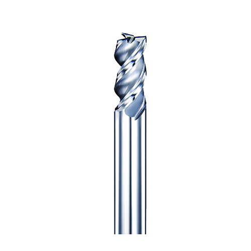 d10,0mm sarkos 3 élű L100mm DLC bevonatos alumínium keményfém maró - DHF - AES+1003L