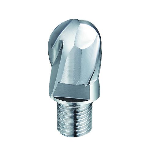 d8,0mm gömbvégű 2 élű  alumínium keményfém marófej - DHF - X-BTC0802