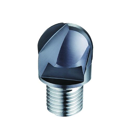 d10,0mm gömbvégű 2 élű  keményfém marófej 55HRC-ig - DHF - Xs-BTB1002