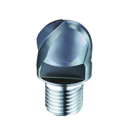 d10,0mm gömbvégű 2 élű  keményfém marófej 65HRC-ig - DHF - Xs-UBT1002